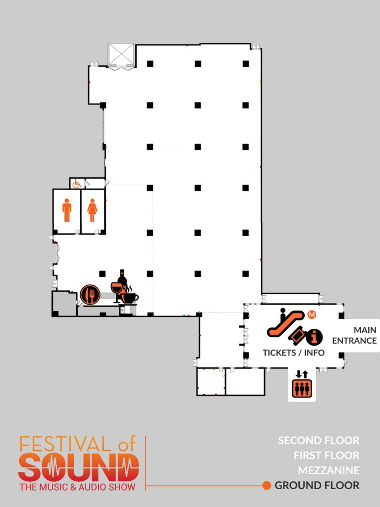 Ground Floor Layout | 2019 Festival Of Sound