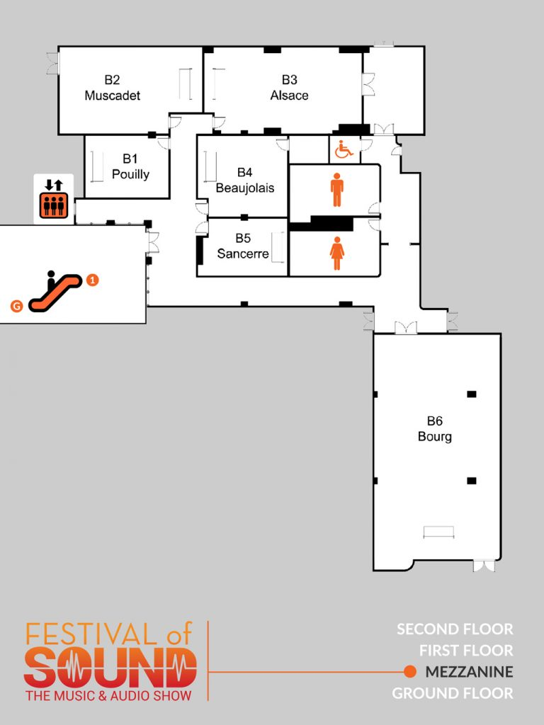 Mezzanine Layout | 2019 Festival Of Sound